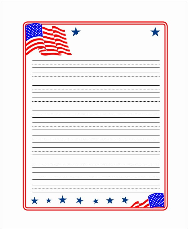Kindergarten Paper with Lines Elegant Printable Lined Paper Samples Examples Templates 7