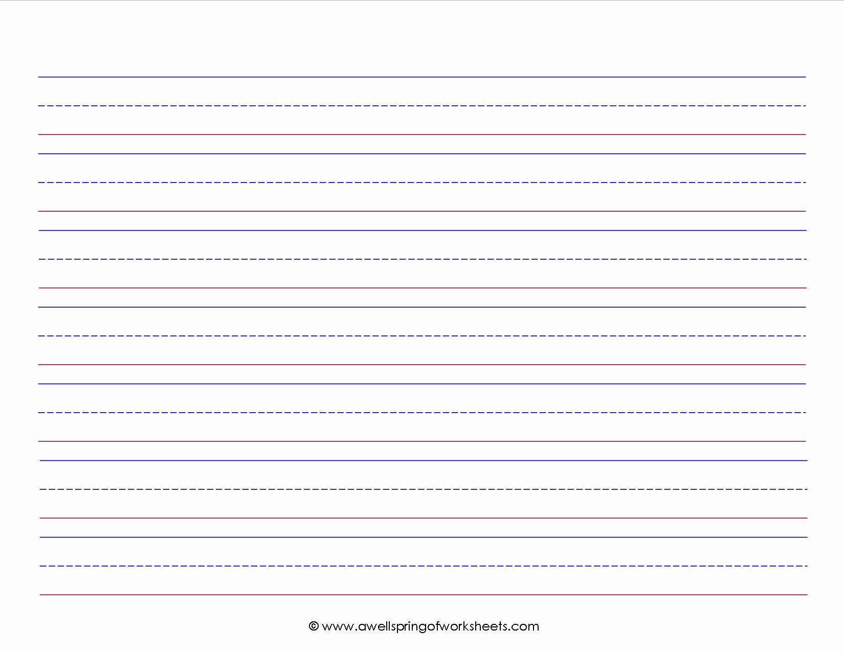 Kindergarten Paper with Lines Inspirational Free Printable Kindergarten Writing Paper Template