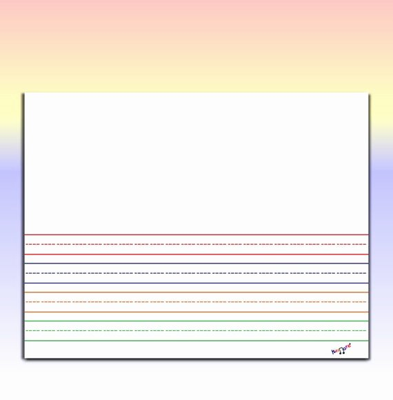 Kindergarten Paper with Lines Unique Kindergarten Writing Paper Landscape Mult Color Printable