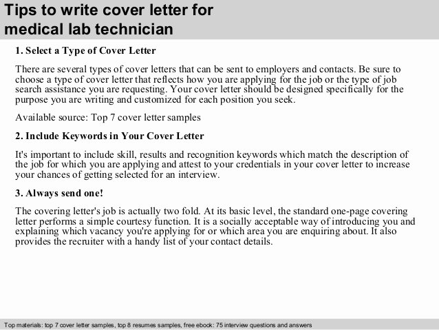 Lab Technician Cover Letter Elegant Medical Lab Technician Cover Letter