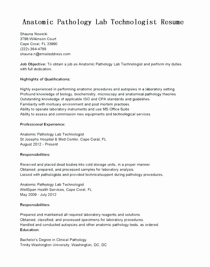 Lab Technician Cover Letter Inspirational 16 Lab Technician Cover Letter
