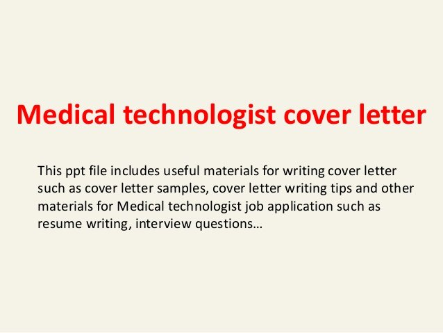 Lab Technician Cover Letter Luxury Medical Technologist Cover Letter