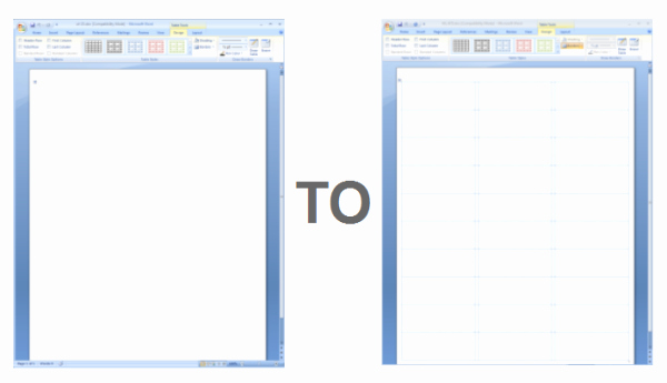Label Template for Microsoft Word Awesome Showing Gridlines In A Ms Word Label Template