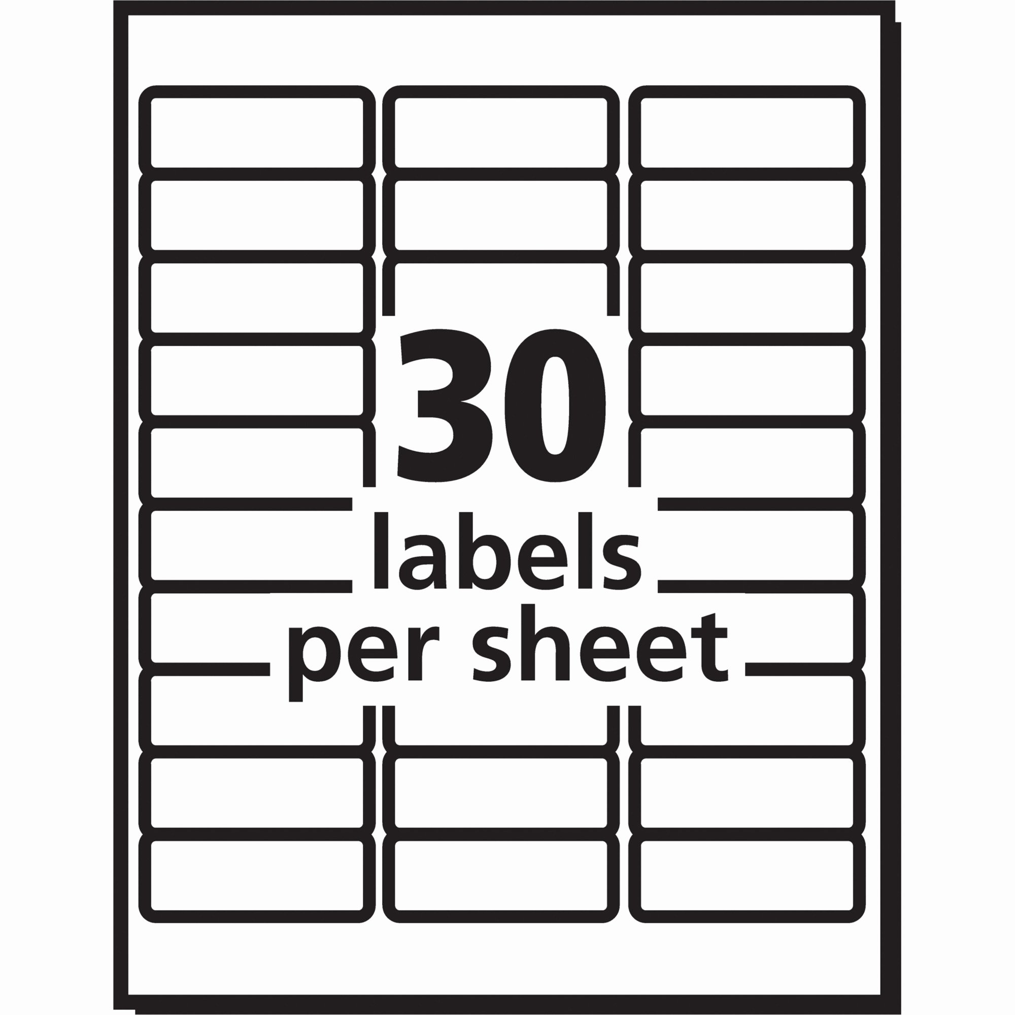 Label Template for Microsoft Word Lovely Avery 8160 Label Template Word Templates Data