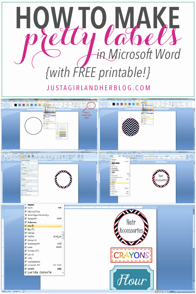 Label Template for Microsoft Word Luxury How to Make Pretty Labels In Microsoft Word