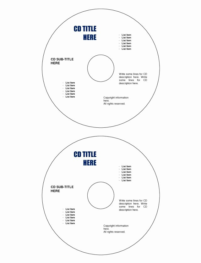 Label Template for Word Free Awesome Memorex Cd Label Word Template Free Download Printable
