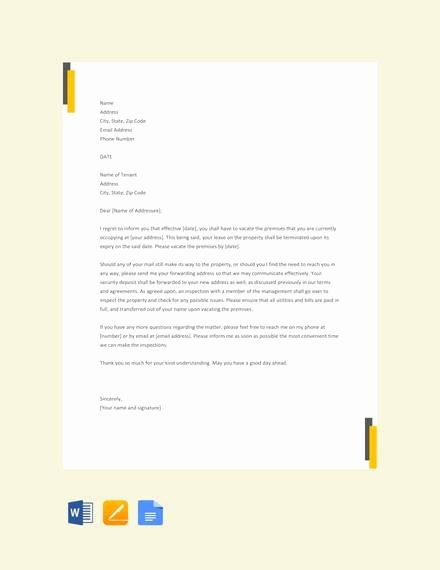 Landlord Lease Termination Letter Luxury 7 Sample Landlord Lease Termination Letters Pdf Word