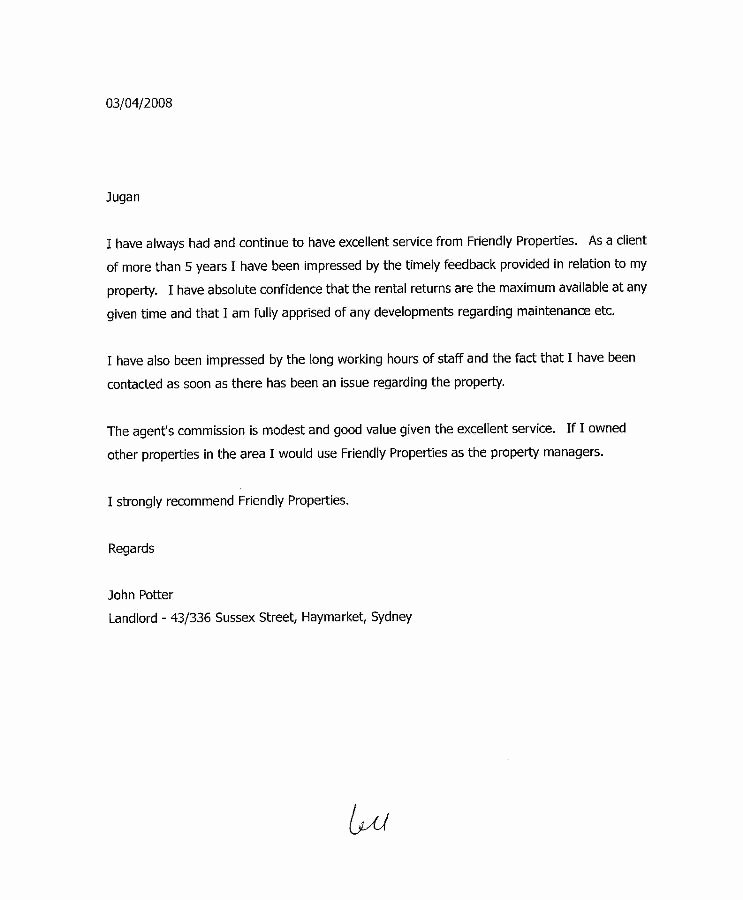 Landlord Letter Of Recommendation Best Of Landlord Reference Letter
