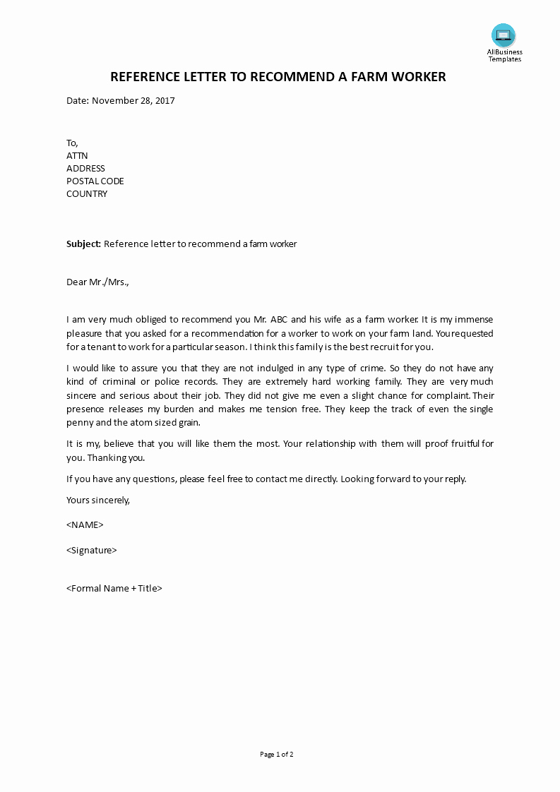 Landlord Letter Of Recommendation Fresh Landlord Reference Letter Template