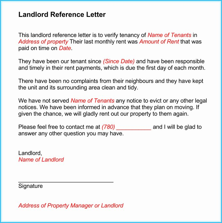 Landlord Reference Letter Beautiful 12 13 Tenancy Reference Letter Sample