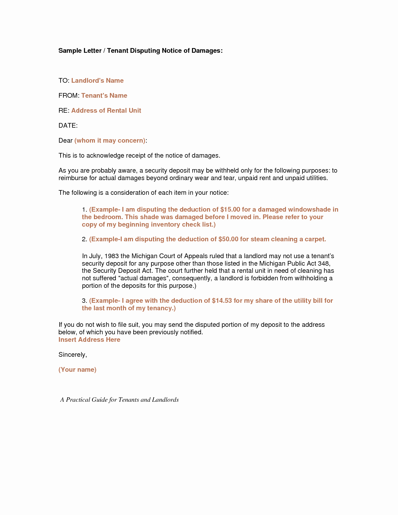 Landlord to Tenant Sample Letters Best Of Best S Of Warning Letter to Tenant Tenant Smoking