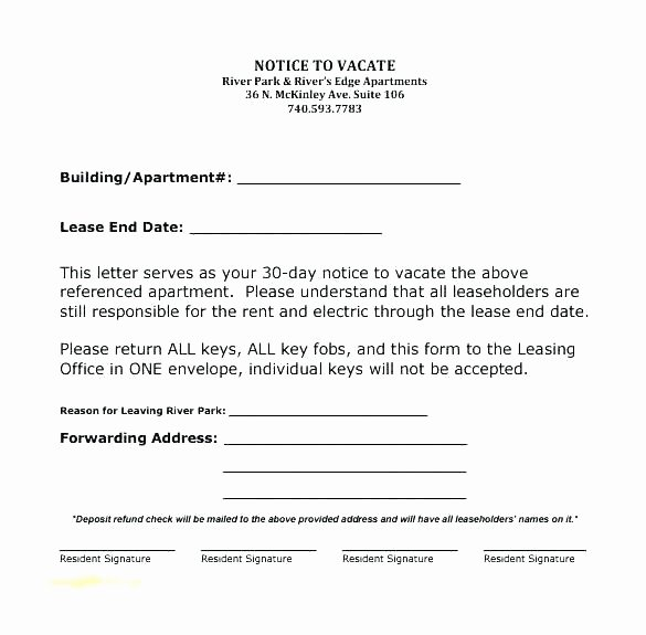 Landlord to Tenant Sample Letters Luxury Template for 30 Day Notice to Landlord – Stagingusasportfo