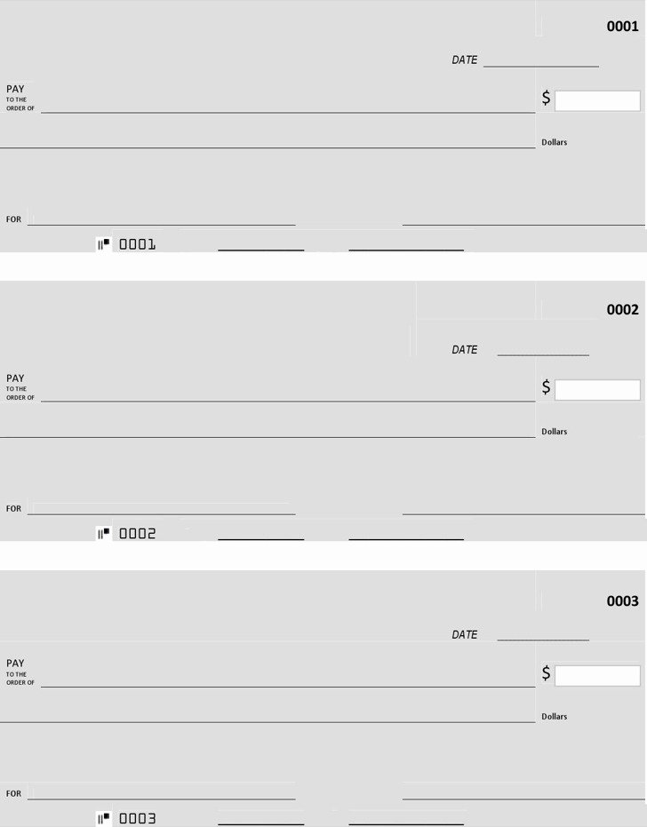 Large Blank Check Template Awesome 27 Blank Check Template Free Download