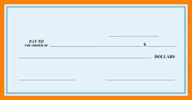 Large Blank Check Template Elegant Check Template Ivoiregion