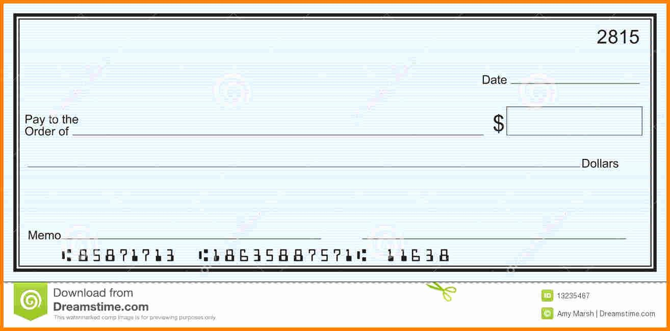 Large Blank Check Template Inspirational 25 Of Blank Check Template