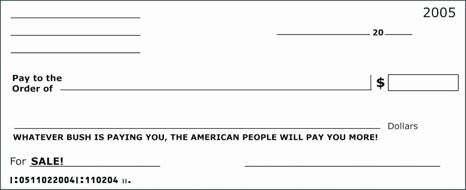 Large Blank Check Template New Big Cheque Template
