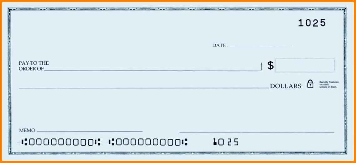Large Blank Check Template Unique 10 Editable Blank Check Template