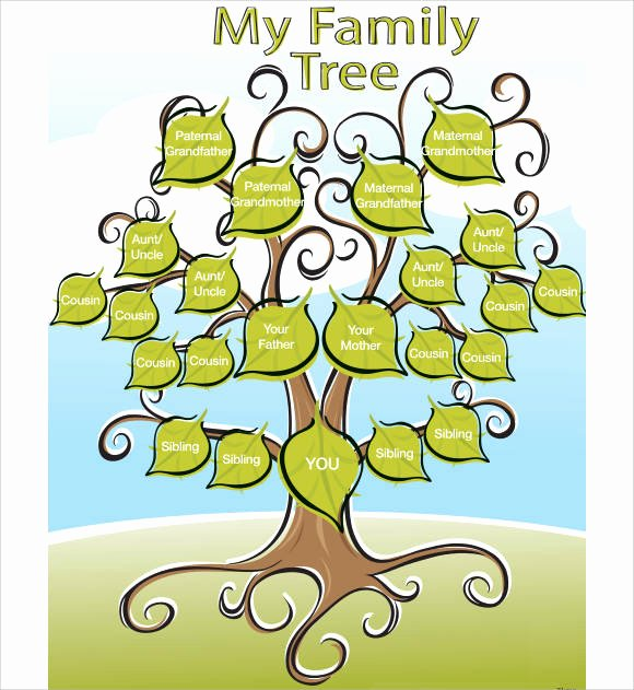 Large Family Tree Template Beautiful Free 56 Family Tree Templates In Word Apple