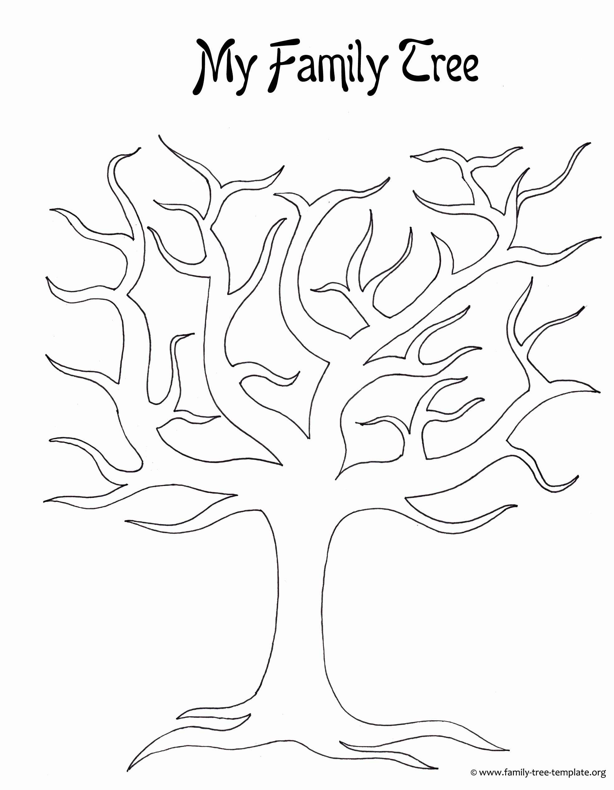 Large Family Tree Template Beautiful Kids Printable Family Tree Coloring Home