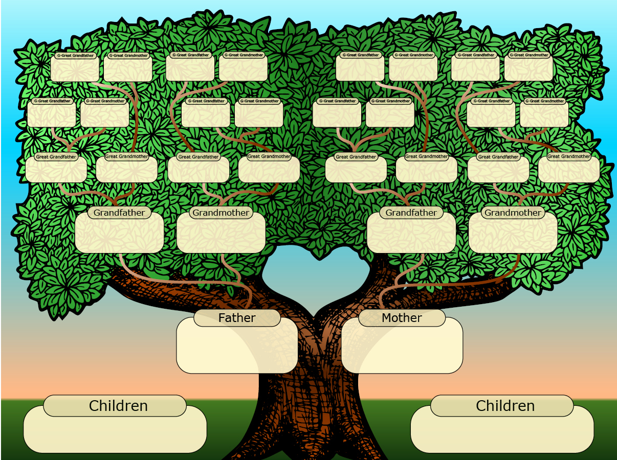 Large Family Tree Template Luxury Free Family Tree Templates