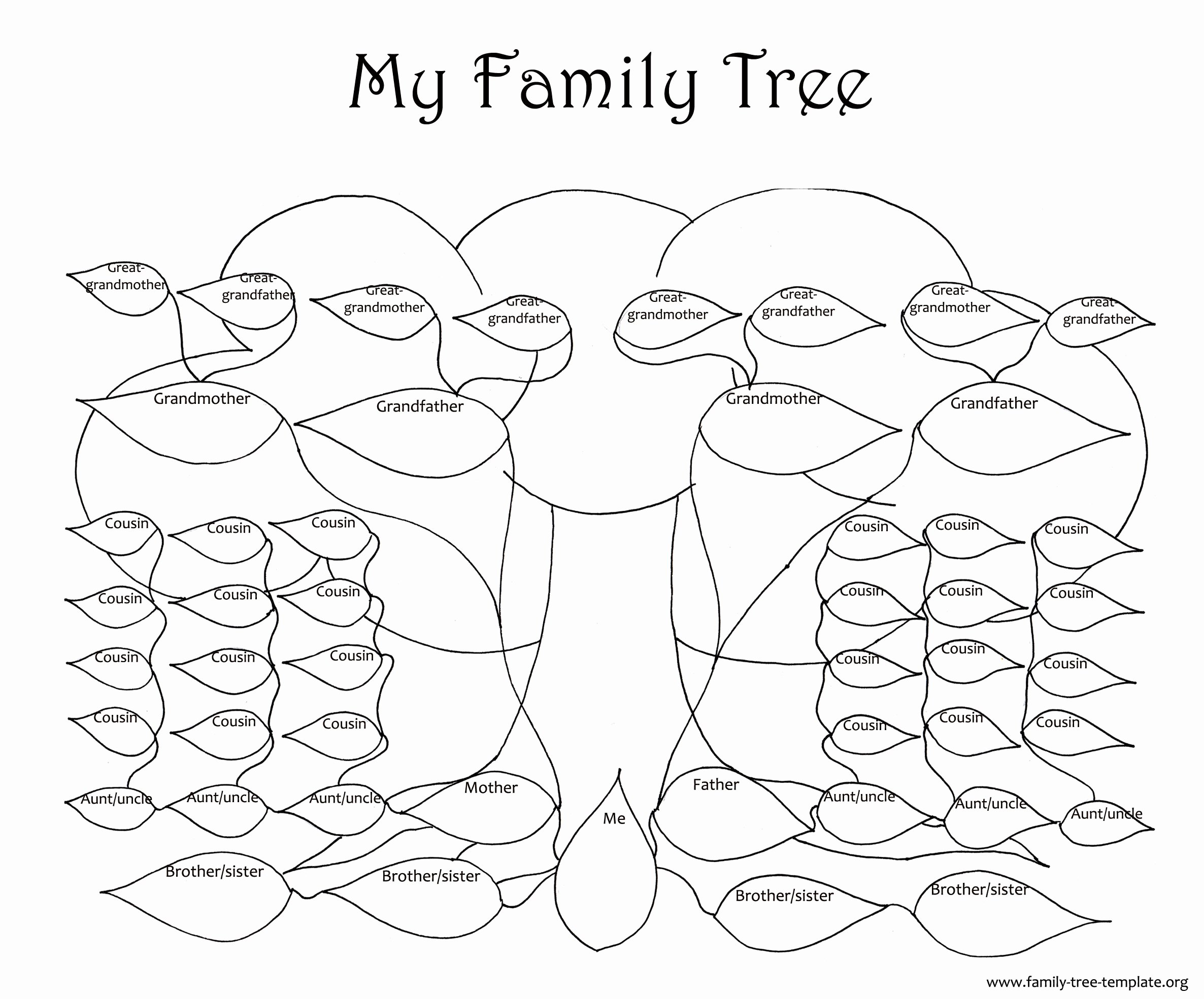 Large Family Tree Template New Family Tree Template Resources
