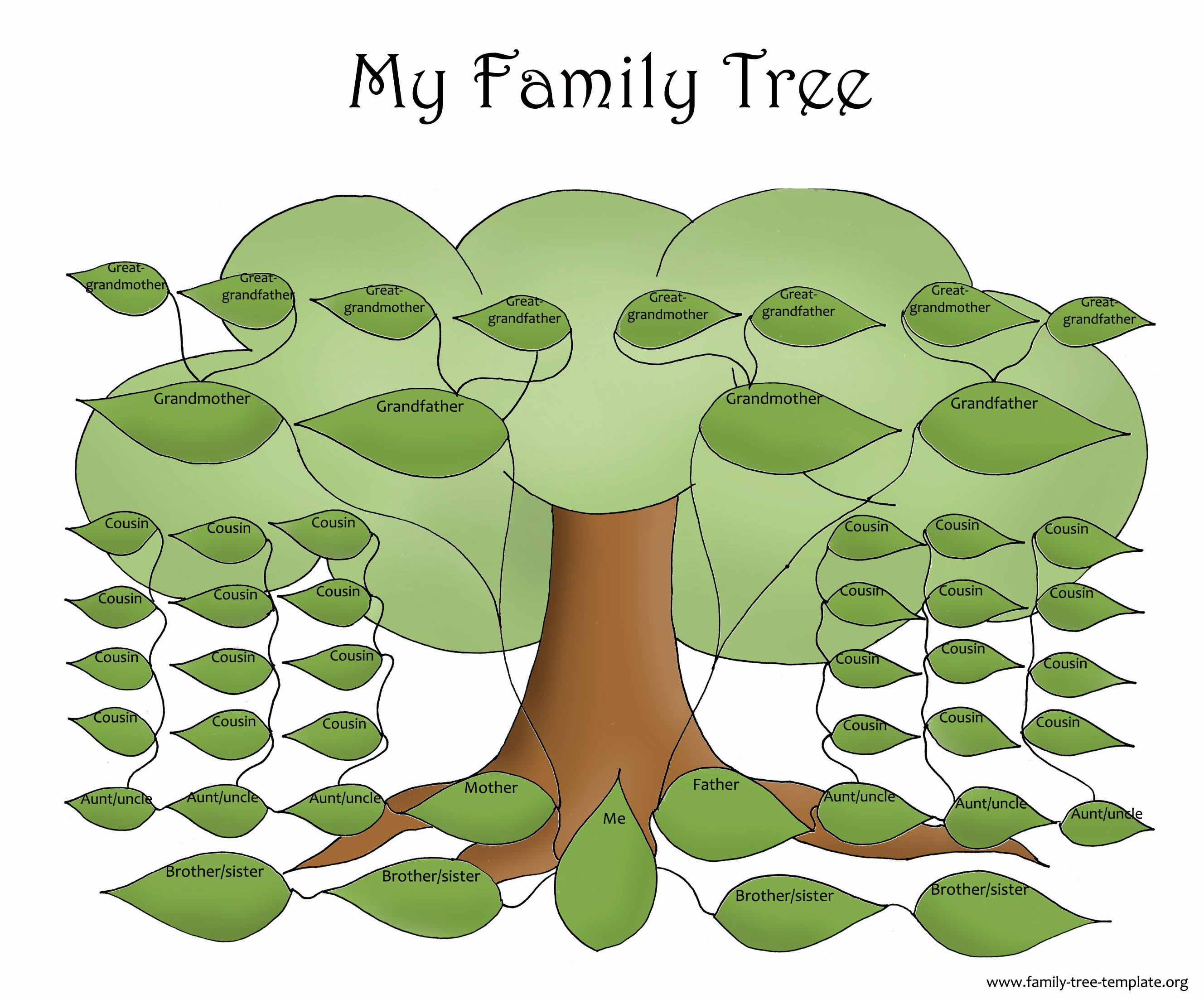 Large Family Tree Templates Beautiful Family Tree Template Resources