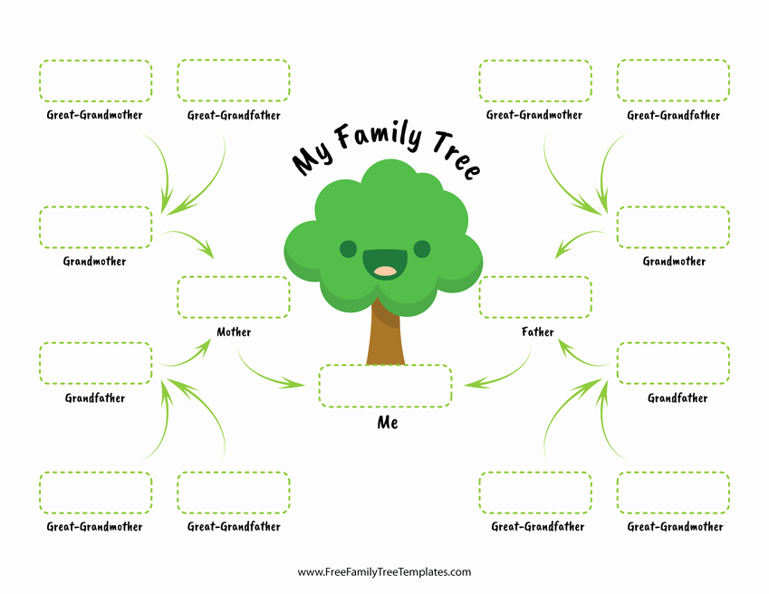 Large Family Tree Templates Inspirational Family Tree for Children – Free Family Tree Templates