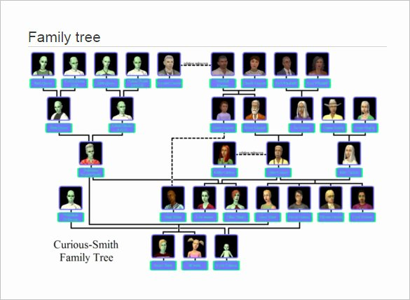 Large Family Tree Templates Inspirational Family Tree Template 11 Free Word Excel format