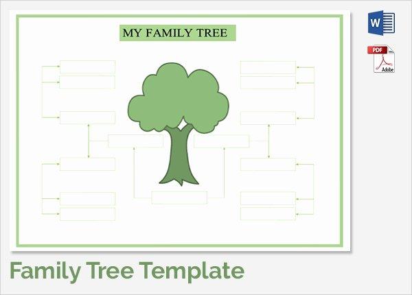 Large Family Tree Templates Inspirational Sample Family Tree Chart Template 17 Documents In Pdf
