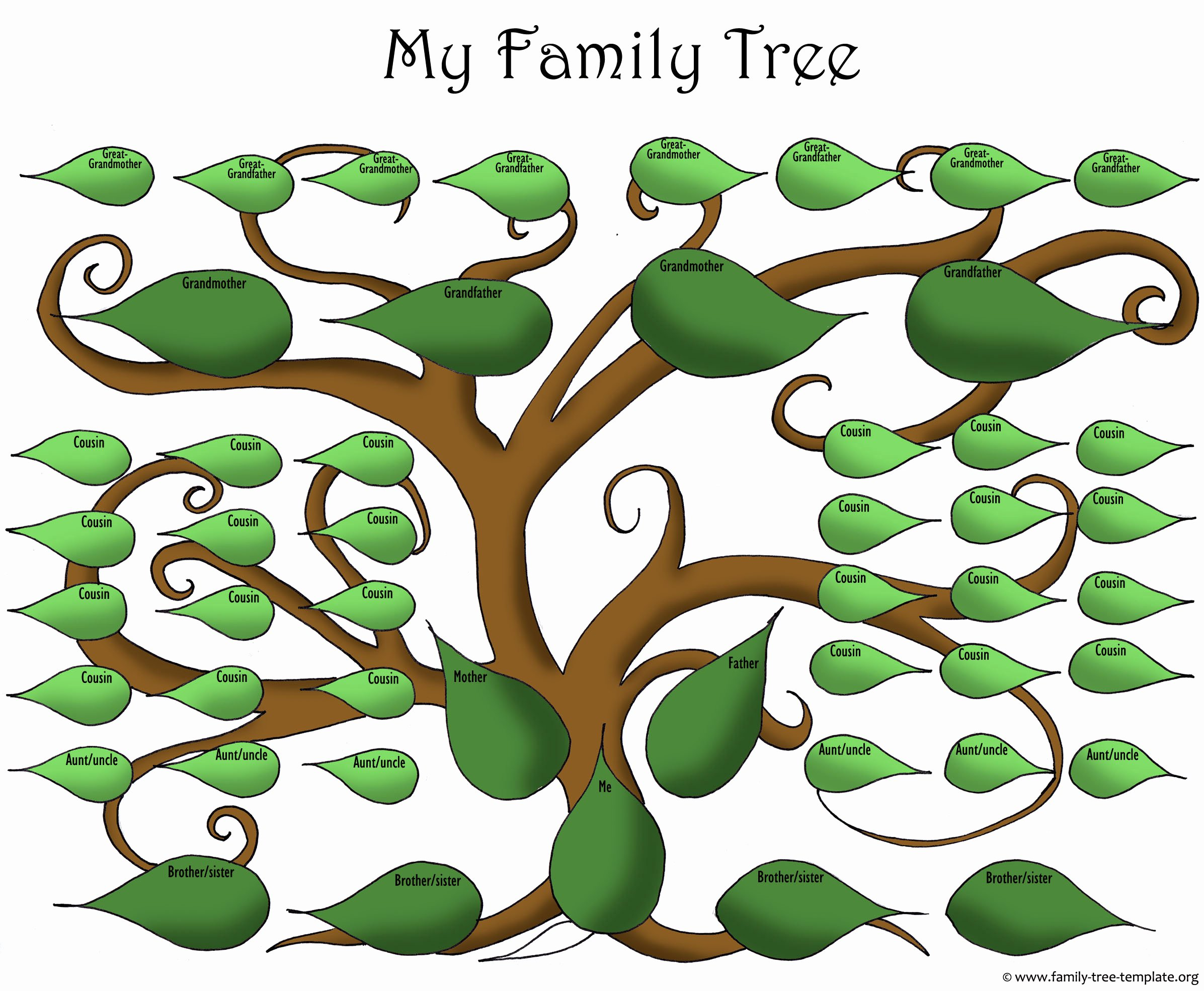 Large Family Tree Templates Unique A Printable Blank Family Tree to Make Your Kids Genealogy