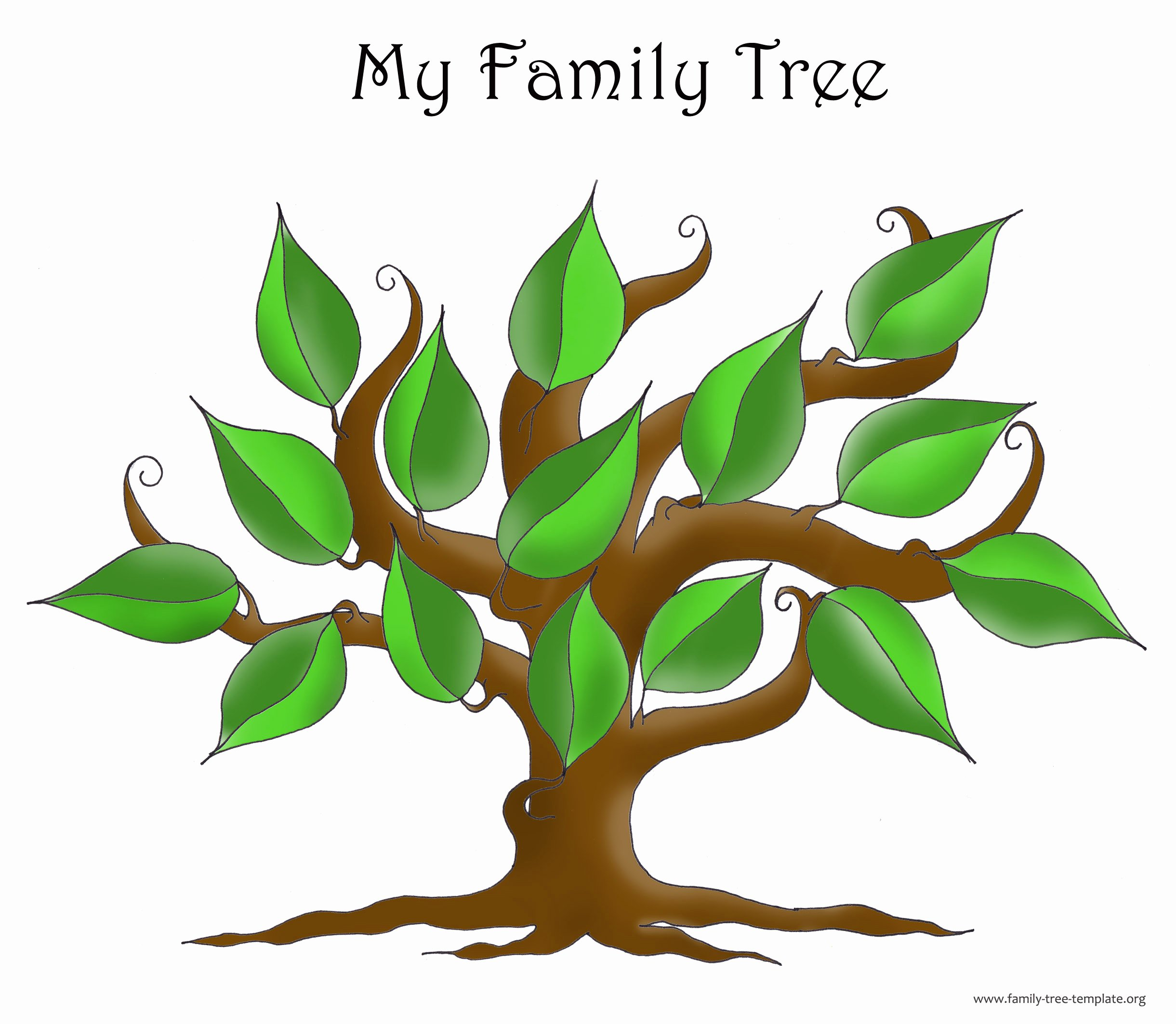 Large Family Tree Templates Unique Family Tree Template Resources