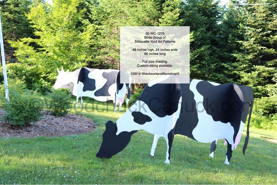 Large Farm Animal Cutouts Beautiful 3d Cows Yard Art Woodworking Pattern