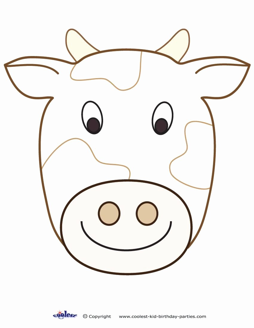 Large Farm Animal Cutouts Beautiful Printable Cow Decoration Coolest Free Printables