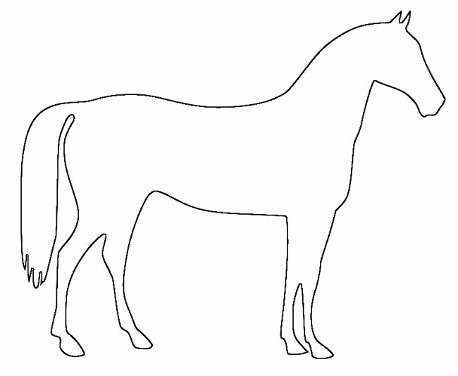 Large Farm Animal Cutouts Best Of Horse Template Animal Templates