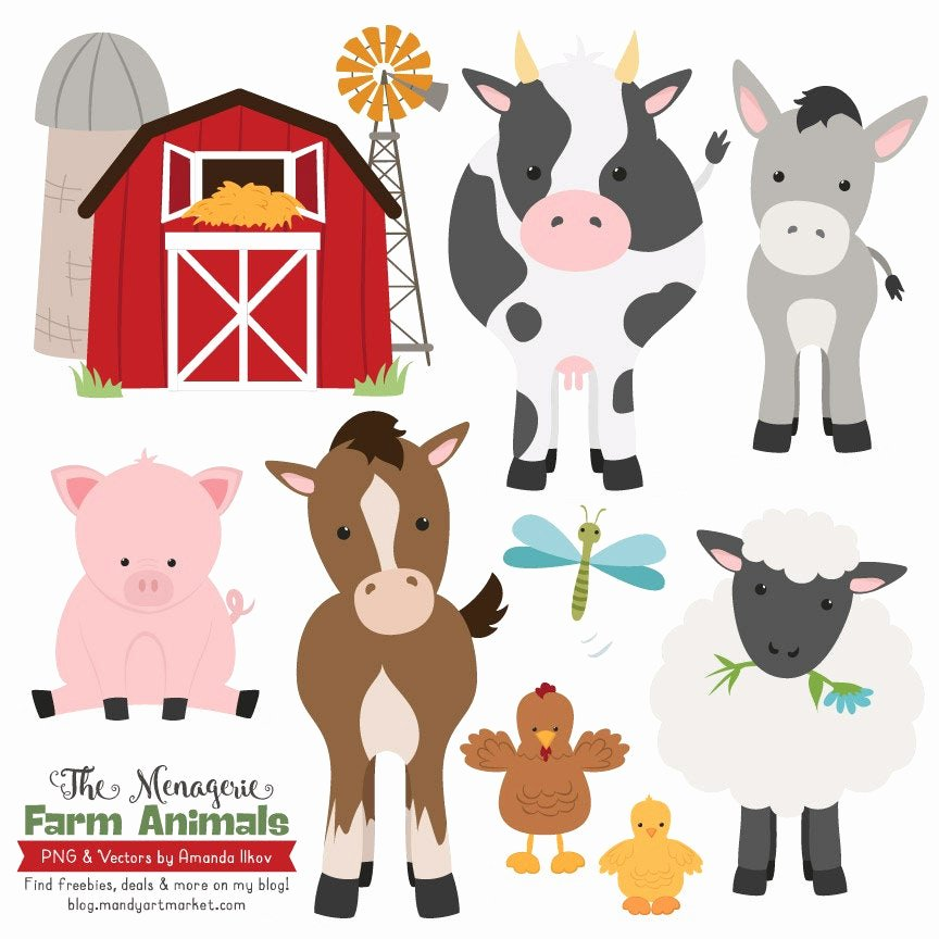 Large Farm Animal Cutouts Best Of Premium Farm Animals Clip Art & Vectors Farm Animals
