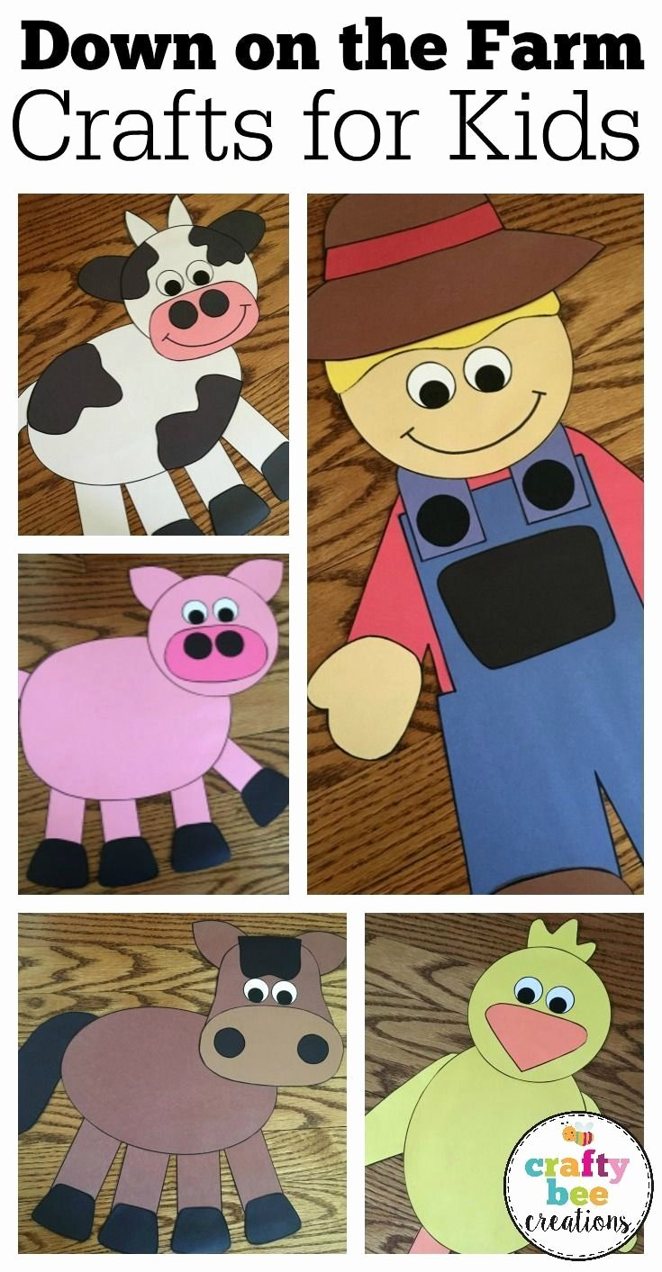 Large Farm Animal Cutouts Fresh these Down On the Farm Craft Patterns are Perfect for