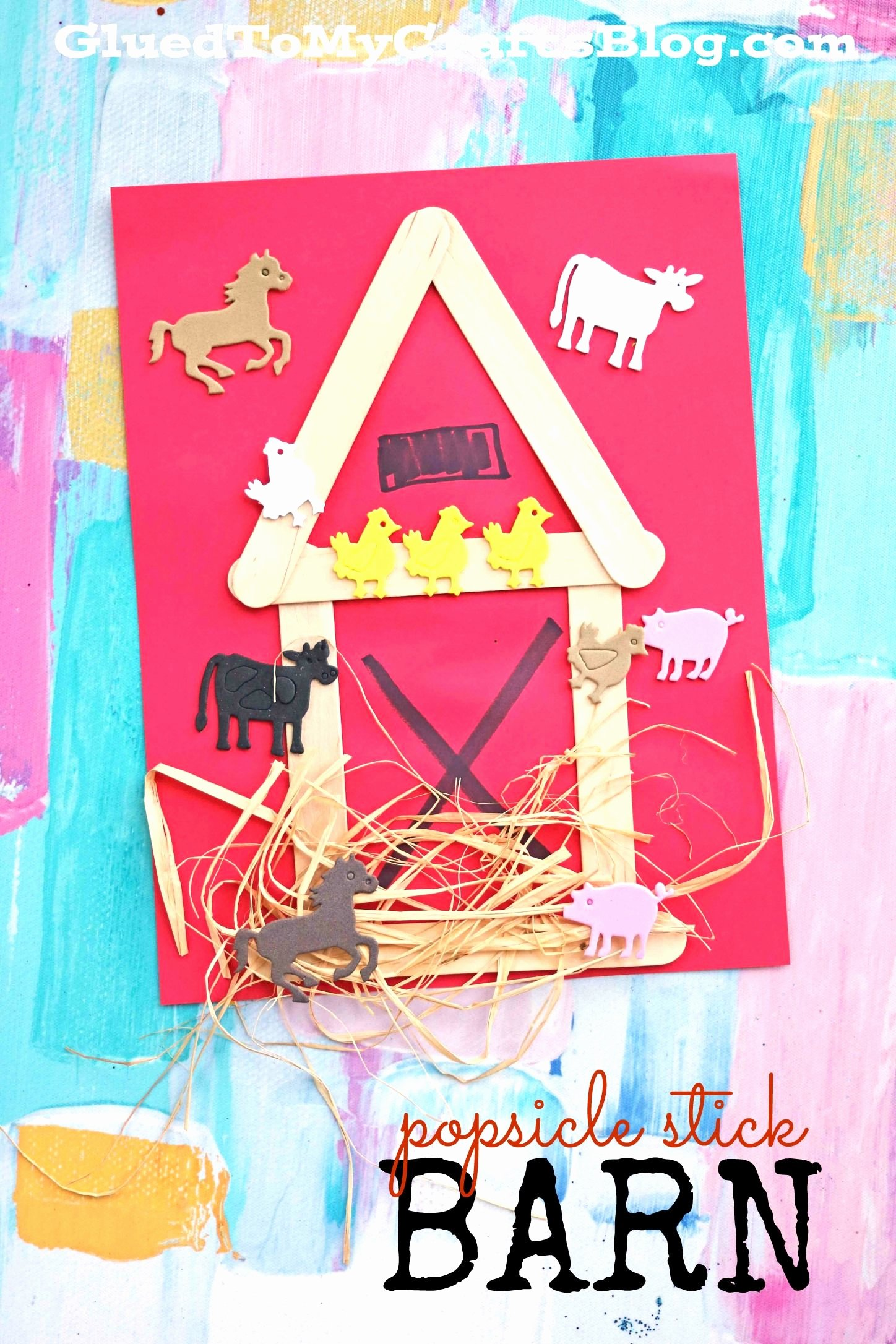 "Large Farm Animal Cutouts Lovely Popsicle Stick ""h"" is for Hibernation Kid Craft"