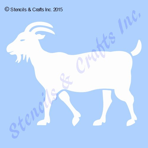 Large Farm Animal Cutouts New Goat Stencil Animal Stencils Template Craft Background