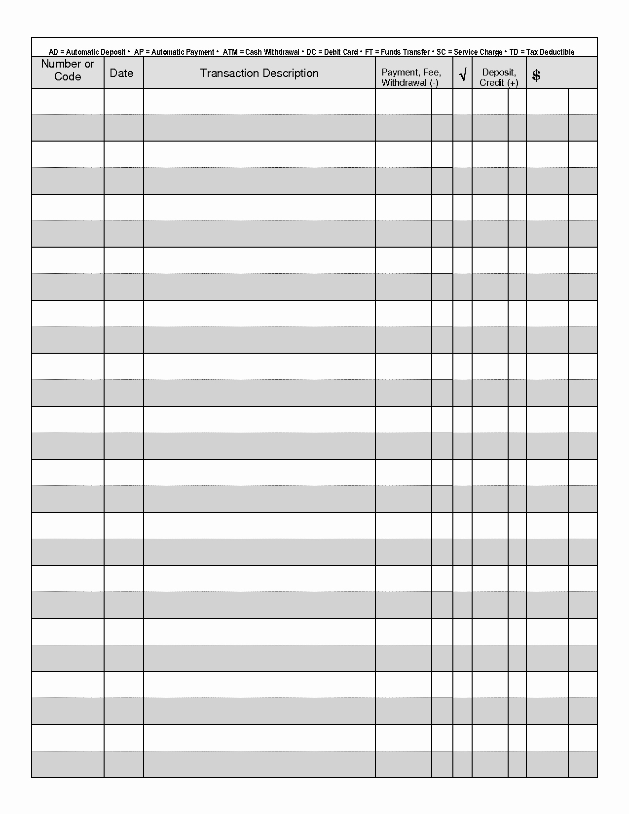 Large Print Check Register Printable Best Of Printable Check Register when You are Searching for