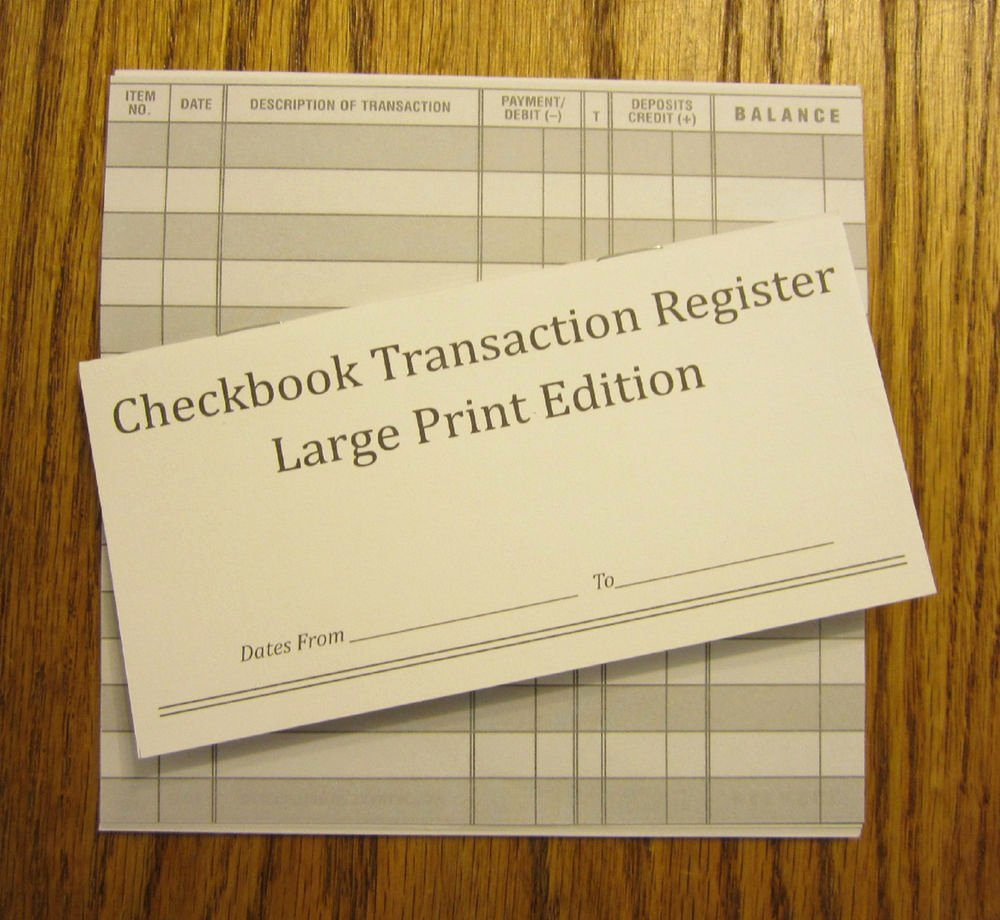 Large Print Check Register Printable Fresh 8 Easy to Read Checkbook Transaction Register Large Print