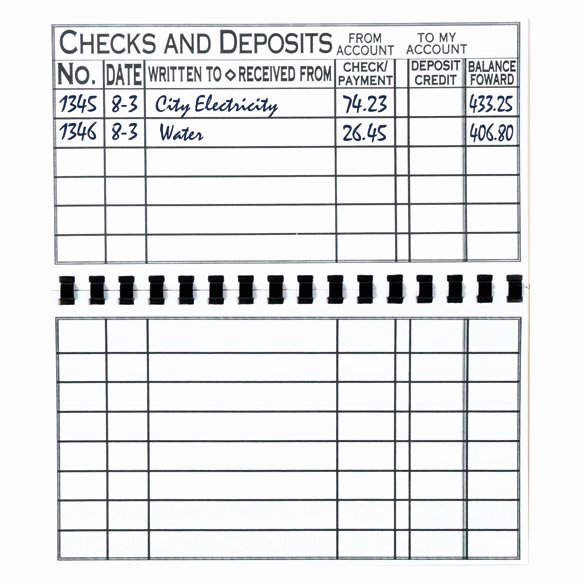Large Print Check Register Printable Inspirational Print Check Register Checkbook Register Easy