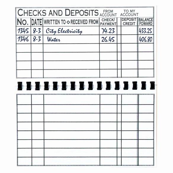 Large Print Check Register Printable Inspirational Print Check Register Checkbook Register Easy