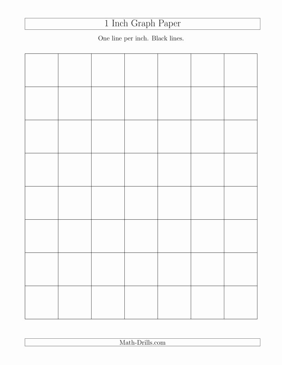 Large Print Graph Paper Lovely 1 Inch Graph Paper with Black Lines A Graph Paper