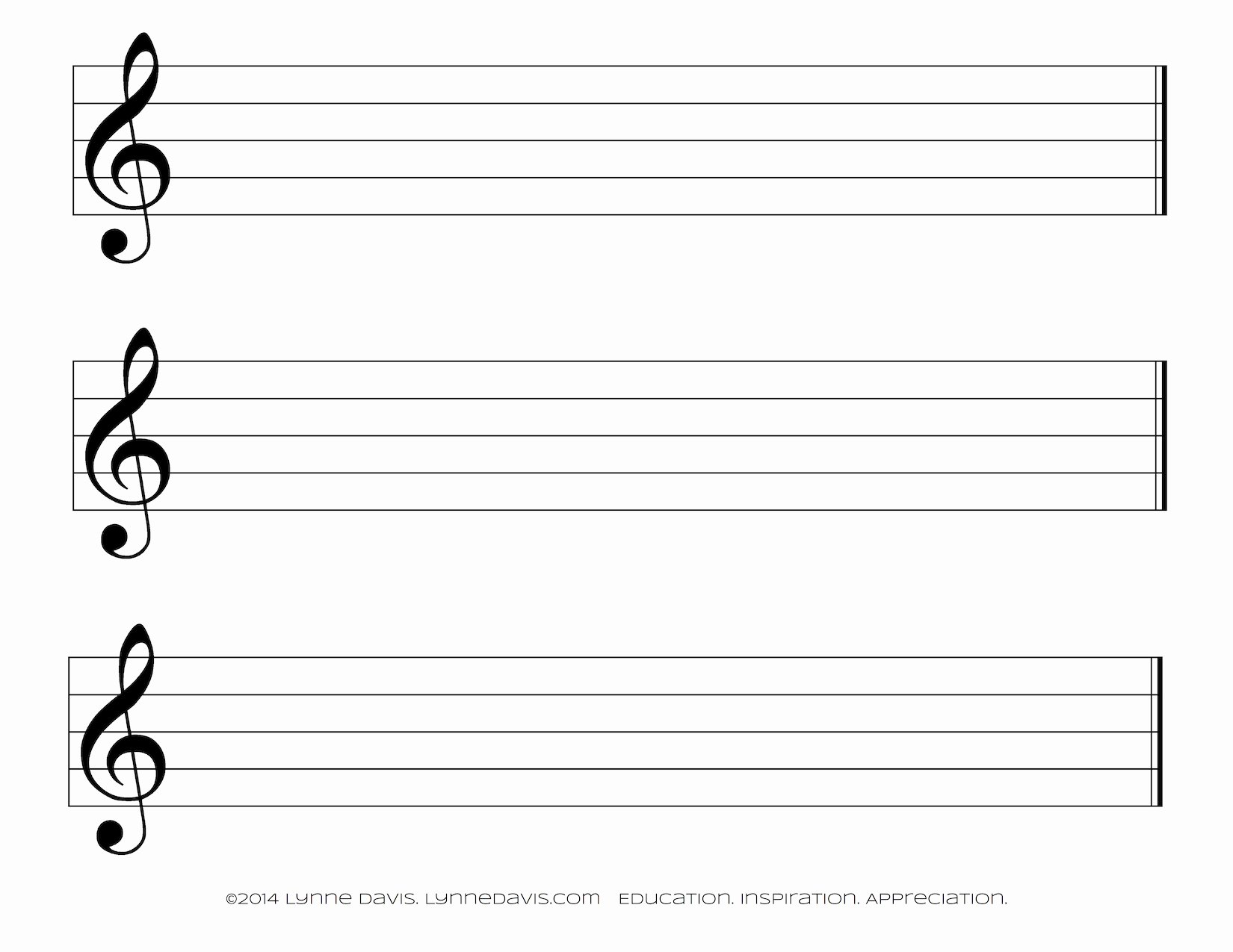 Large Printable Music Notes Beautiful Staff Papers
