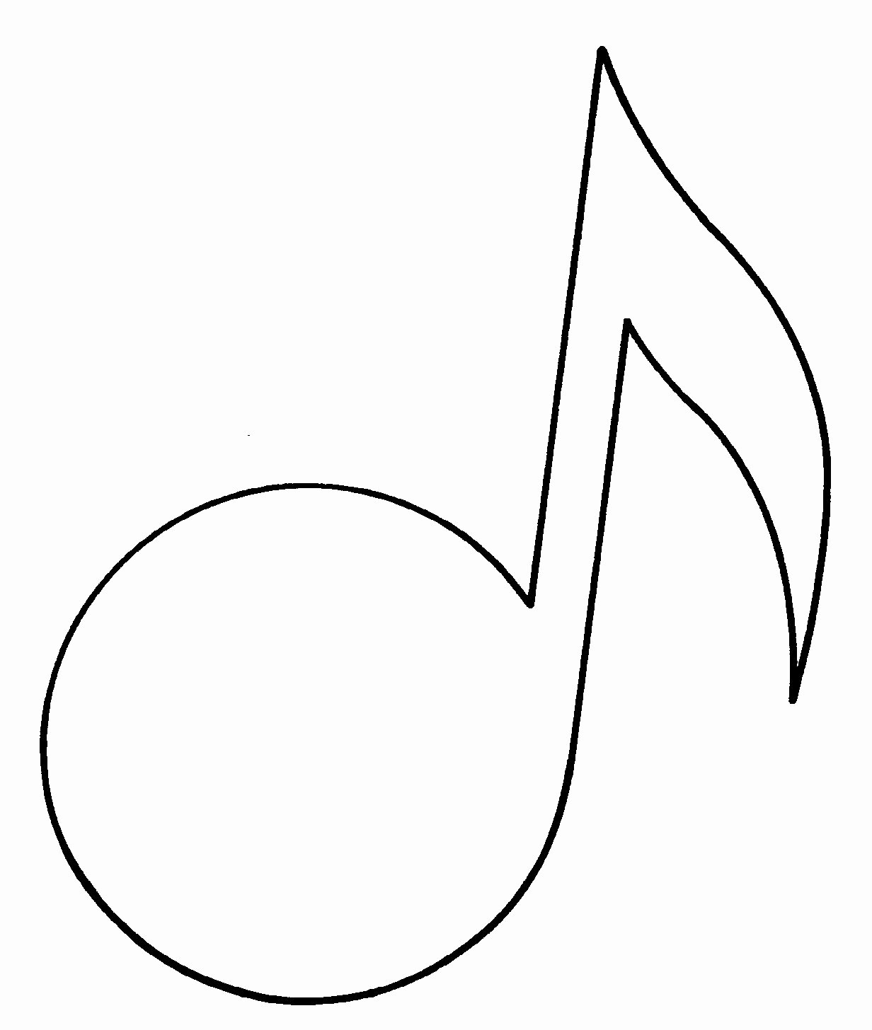 Large Printable Music Notes Fresh Music Note Outline Clipart Best