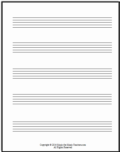 Large Printable Music Notes Lovely Staff Paper Pdfs Download Free Staff Paper