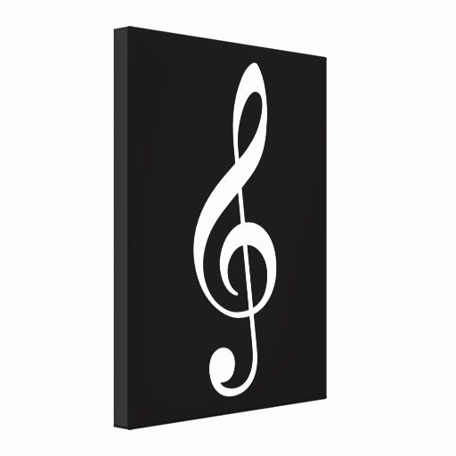 Large Printable Music Notes Unique Big Treble Clef Musical Note Canvas Print