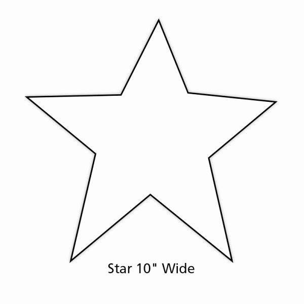 Large Star Template Printable Best Of Paper Star Cut Out for Holiday and Classroom Decorations