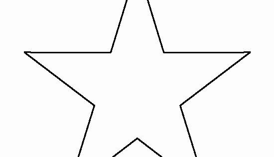 Large Star Template Printable Elegant 7 Inch Star Pattern Use the Printable Outline for Crafts