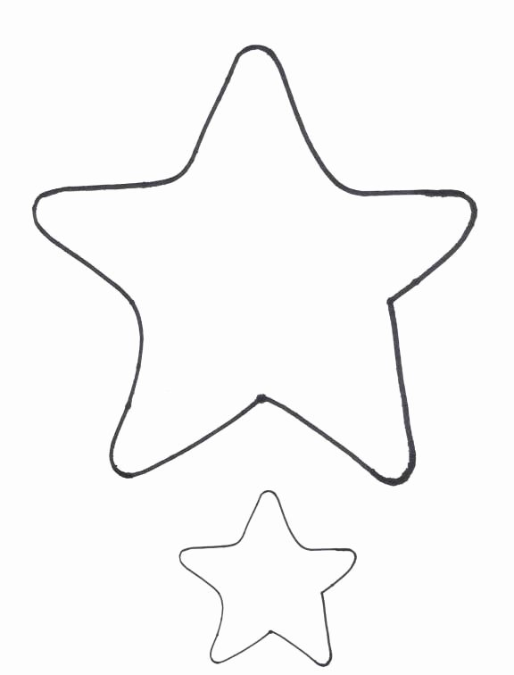 Large Star Template Printable Elegant Star Template Printable Cliparts
